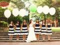 GREEN AND NAVY WEDDING BRIDESMAIDS