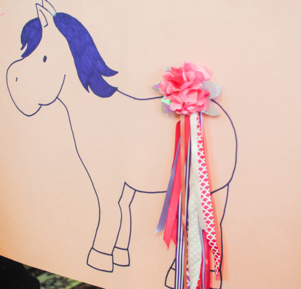 pin the tail on the horse bclose up_