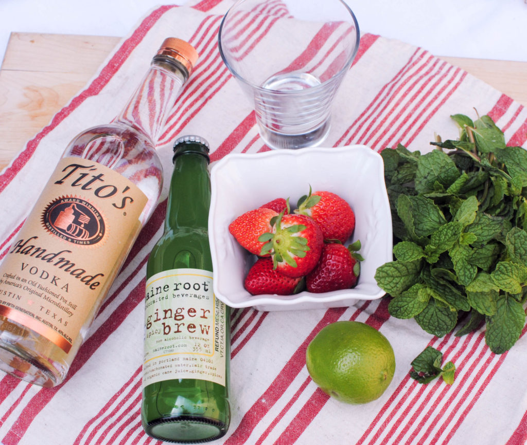Strawberry Moscow Mule Ingredients_