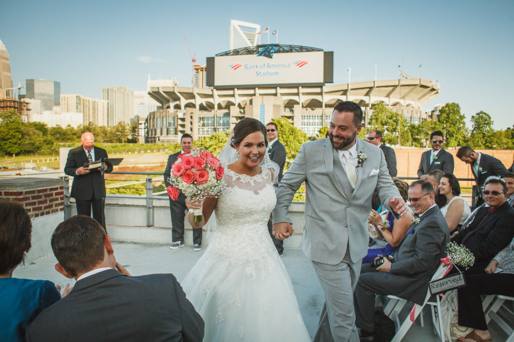 May 7, 2016 -- Charlotte, NC -- Wedding day of Allison Rabon and Joe Papalia at the Roof with a View venue in Charlotte, North Carolina. (Photo by Tricia Coyne)